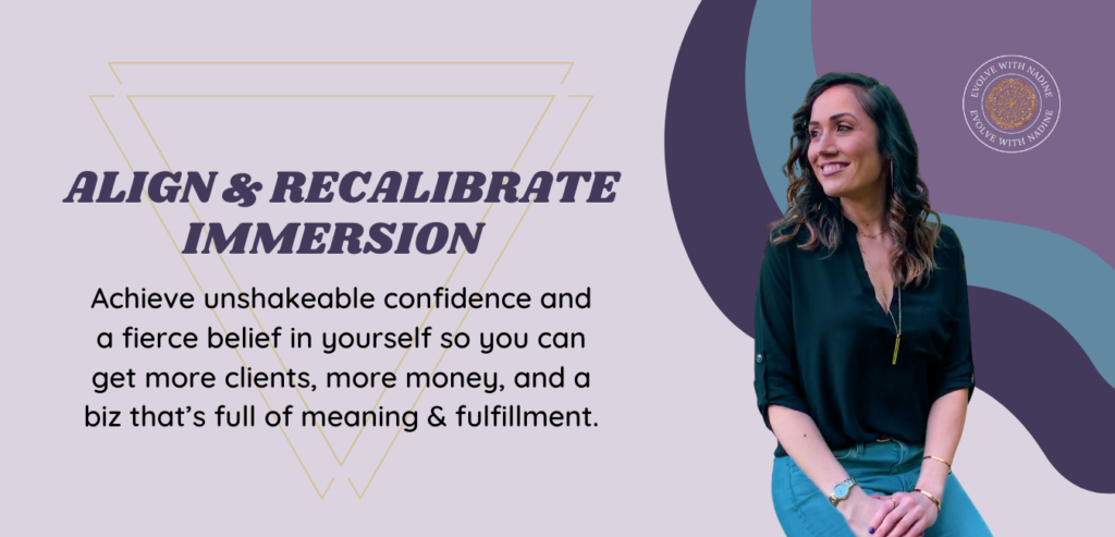 align and recalibrate for success immersion